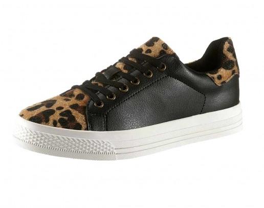 Sneaker, black-leopard
