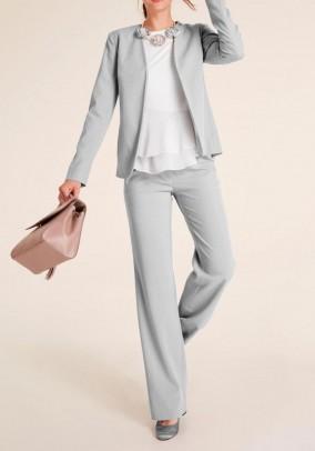 Trouser suit, light grey