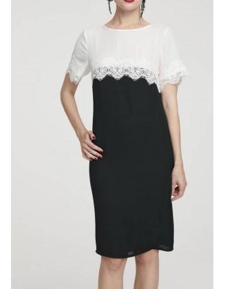 Dvispalvė elegantiška suknelė