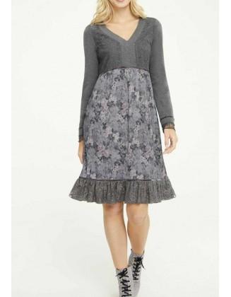 Pilka romantiška suknelė