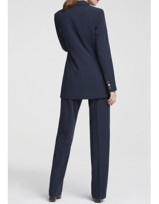 Verslo klasės mėlynas kostiumėlis