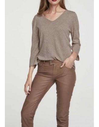 """Vilnonis rudas megztinis """"Comfort"""""""
