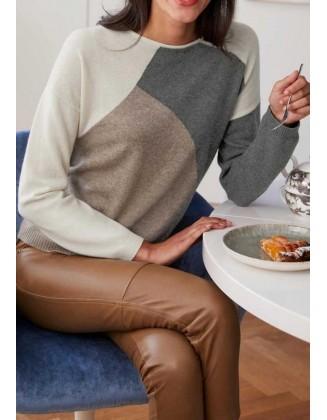 "Vilnonis megztinis ""Inlay"""