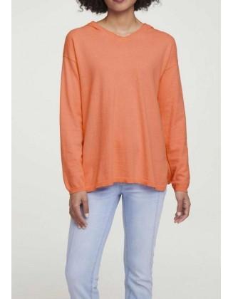 Oranžinis megztinis su kašmyru