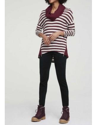 Trijų dalių bordo megztinis