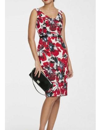 """Raudona suknelė """"Flower"""""""