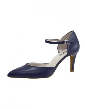 Mėlyni odiniai klasikiniai bateliai