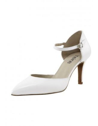 Balti odiniai klasikiniai bateliai