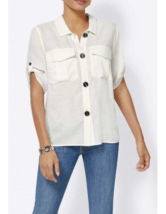 Balti lininiai marškiniai