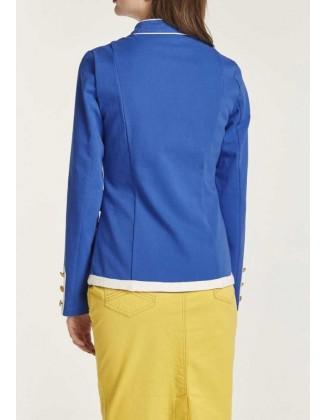 Ryškiai mėlynas švarkas