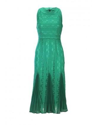 """Žalia midi suknelė """"Pleat"""""""