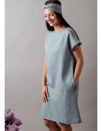 Taškuota lininė suknelė....