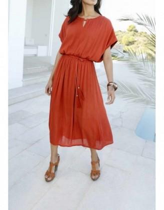 """Didesnio dydžio suknelė """"Terracotta"""" (tinka ūgiui iki 1,65m)"""