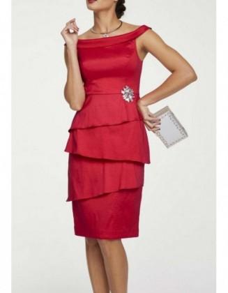 """Raudona kokteilinė suknelė """"Lady"""""""