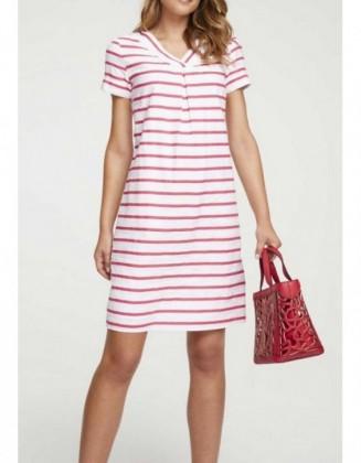 Dryžuota lininė suknelė