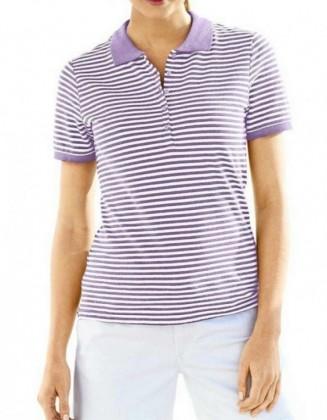 Levandų spalvos polo marškinėliai