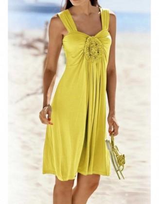 """Geltona laisvalaikio suknelė """"Jersey"""""""