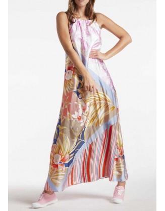 Ilga pastelinė vasarinė suknelė