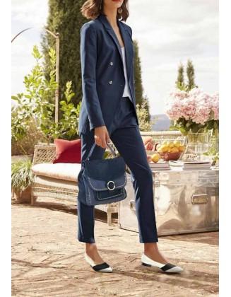 Mėlynas klasikinis kostiumėlis