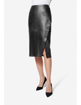 Juodas odinis sijonas. Liko...