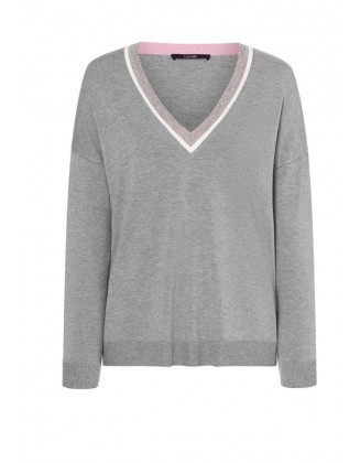 Premium klasės pilkas Laurel megztinis