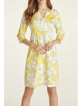 Geltona vasarinė suknelė