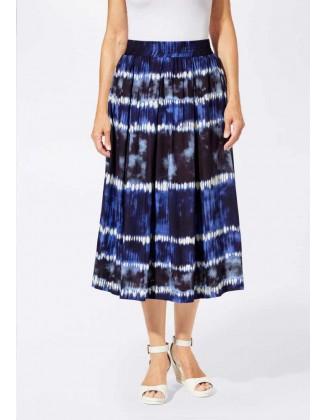 Ilgas mėlynas sijonas