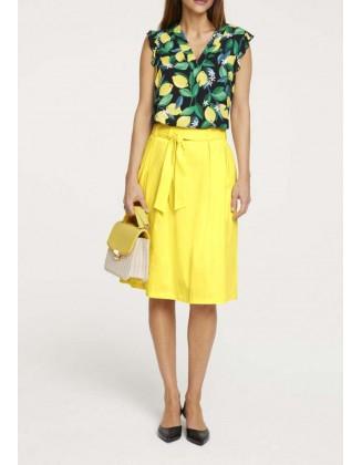 Geltonas vasarinis sijonas