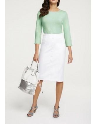 Baltas aptemptas sijonas