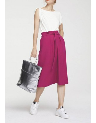 Alyvinės spalvos sijonas