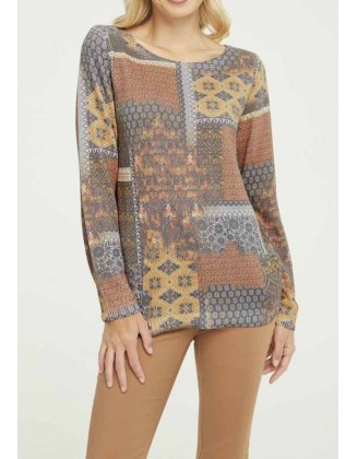 Rudens spalvų megztinis