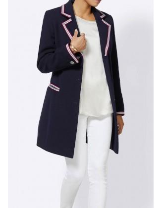 Mėlynas vilnonis paltas su...