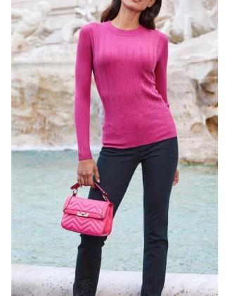 """Rožinis megztinis """"Rib"""""""