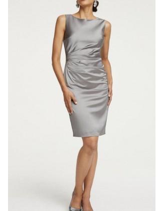 Pilka kokteilinė suknelė