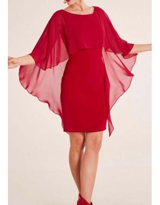 Raudona šventinė suknelė