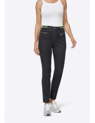 Didesnio dydžio pilki džinsai