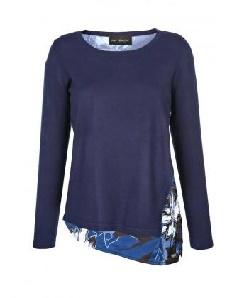 Mėlynas originalus megztinis
