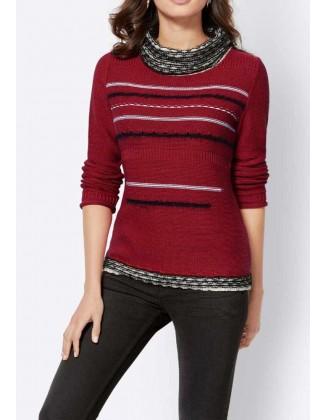 Raudonas vilnonis megztinis