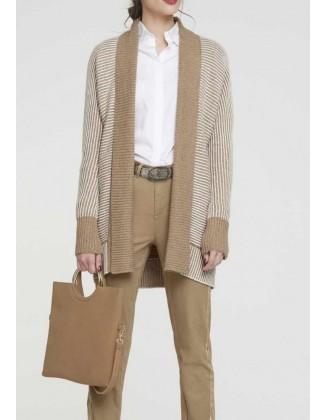 Ilgas rudas megztinis su...