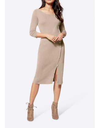 Midi ilgio megzta suknelė