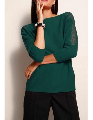 Žalias megztinis su merino...