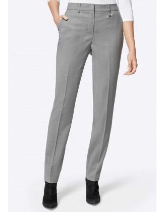 Pilkos klasikinės kelnės su...