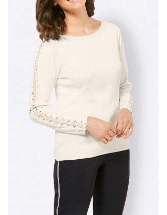 Šviesus viskozės megztinis