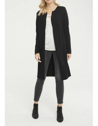 Itin ilgas juodas megztinis