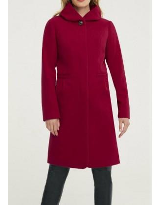 Raudonas paltas su vilna