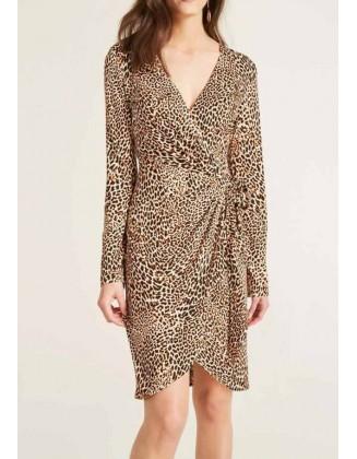 Leopardo rašto suknelė