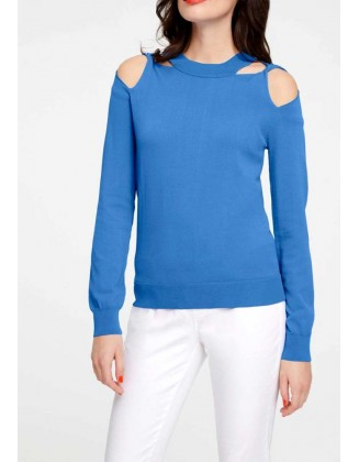Ryškiai mėlynas megztinis...