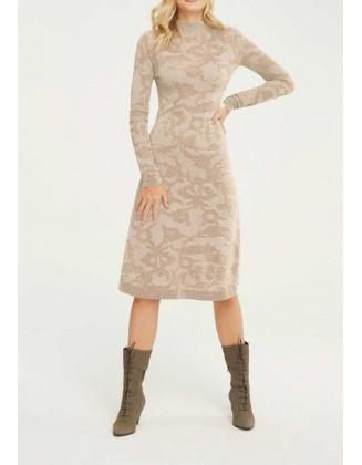 Megzta suknelė su alpakų vilna
